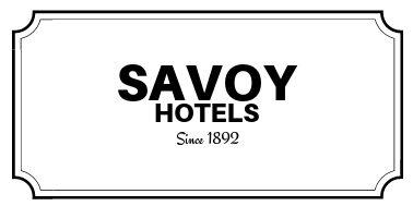 Savoy Hotels. since 1892